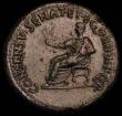 London Coins : A160 : Lot 1910 : Dupondius Divus Augustus struck by Caligula 37-41AD Obv. Hd. Of Augustus SC beside, Rev Augustus or ...