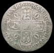 London Coins : A160 : Lot 2022 : Crown 1666 ESC 32, Bull 366 VG with graffiti on the obverse
