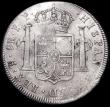 London Coins : A160 : Lot 2064 : Dollar George III Oval Countermark on 1795 Bolivia 8 Reales Potosi ESC 131 countermark VF host coin ...
