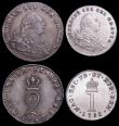 London Coins : A160 : Lot 2304 : Maundy Set 1792 Wire Money ESC 2419, Bull 2237 comprising Fourpence NEF/EF, Threepence GVF/NEF, Twop...