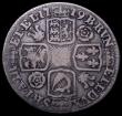 London Coins : A160 : Lot 2465 : Shilling 1719 Roses and Plumes as ESC 1166, Bull 1567, but with H of TH unbarred and struck over ano...