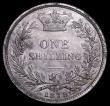London Coins : A160 : Lot 2500 : Shilling 1879 Die Number 16 ESC 1332, Bull 3053, Davies 910 dies 6B, O of VICTORIA rotated clockwise...