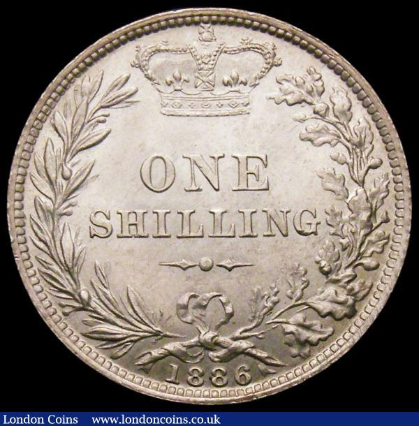 Shilling 1886 ESC 1347 GEF : English Coins : Auction 160 : Lot 2505