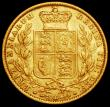 London Coins : A160 : Lot 2567 : Sovereign 1860 DEI GRΛTIA error S.3852D, unlisted by Marsh, VF and Rare