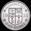 London Coins : A160 : Lot 3348 : Mauritius One Rupee 1938 KM#19 AU/UNC with some contact marks