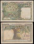 London Coins : A160 : Lot 340 : French Somaliland, Djibouti 100 Francs (2), issued 1952 series D.129 837 & E.135 356, Tresor Pub...