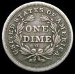 London Coins : A160 : Lot 3504 : USA Dime 1840O with drapery between arm and leg, First Gobrecht type, No drapery at elbow, Round O m...