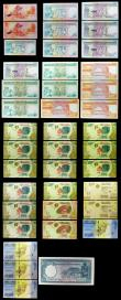 London Coins : A160 : Lot 515 : Seychelles (18), Madagascar (21) and China (1), Seychelles 10 Rupees, 25 Rupees, 50 Rupees & 100...
