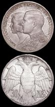 London Coins : A161 : Lot 1078 : Australia Crown 1938 KM#34 GVF the obverse with contact marks, Greece 30 Drachmai 1964 Constantine a...