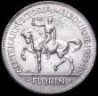 London Coins : A161 : Lot 1081 : Australia Florin 1935 Centennial of Victoria and Melbourne KM#33 Toned UNC with light cabinet fricti...