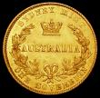 London Coins : A161 : Lot 1087 : Australia Sovereign 1857 Sydney Branch Mint Marsh 362 EF with subdued brilliance and some hairline s...