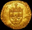 London Coins : A161 : Lot 1166 : France Ecu d'Or au soleil Francis I (1515-1547) Reverse Floriated Cross with F F and Lis in ang...