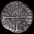London Coins : A161 : Lot 1428 : Groat Henry VI Annulet Issue London Mint, S.1835 Annulet in two quarters of the reverse, Good Fine