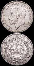 London Coins : A161 : Lot 1510 : Crowns (2) 1930 ESC 370, Bull 3638 Near Fine, 1933 ESC 373, Bull 3644 NVF with a scuff by the date