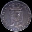 London Coins : A161 : Lot 1710 : Halfcrown 1689 Second Shield, Caul only frosted, with pearls, ESC 510, Bull 839 Good VF and attracti...