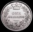 London Coins : A161 : Lot 1874 : Shilling 1870 ESC 1320, Bull 3038 Die Number 1, the die number with missing right foot to the 1, GEF...