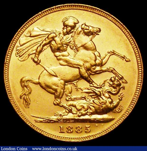 Sovereign 1885M George and the Dragon Marsh 107 EF with some contact marks : English Coins : Auction 161 : Lot 2009