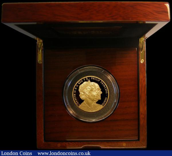 Ten Pounds 2017 Queen Elizabeth II and Prince Philip Platinum Wedding Anniversary - 70 Years of Marriage Gold Proof S.M10 FDC in the Royal Mint box of issue with certificate, number 92 of just 175 issued, 170 in this format : English Cased : Auction 161 : Lot 724