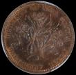London Coins : A162 : Lot 1131 : Canada - Nova Scotia Halfpenny Token 1856 NS-5A1 BR-876 KM#5 UNC with lustre, in a PCGS holder and g...
