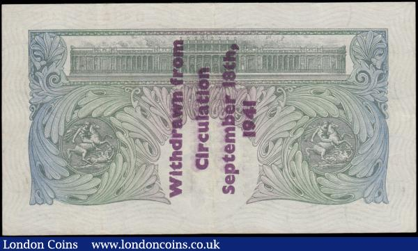 "Peppiatt One Pound B239A Guernsey overprint series D48A 284307, ""Withdrawn from circulation September 18th, 1941."", (Pick363h), lightly pressed good VF : English Banknotes : Auction 162 : Lot 125"