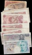 London Coins : A162 : Lot 136 : Bank of England (11) plus a few world notes (4), including Beale white 5 Pounds dated 1951, Kentfiel...