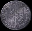 London Coins : A162 : Lot 1631 : Shilling Elizabeth I Milled Coinage , undated, large flan size of 32mm, decorated dress, S.2590, min...