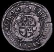 London Coins : A162 : Lot 1638 : Threepence Charles I Aberystwyth Mint S.2894 mintmark Book VF with an edge nick at 3 o'clock on...