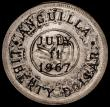 London Coins : A162 : Lot 1644 : Anguilla Liberty Dollar 1967  Provisional Government, countermarked Coinage X#4.2, Countermarked on ...