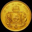 London Coins : A162 : Lot 1648 : Brazil 20000 Reis Gold 1852 KM#463 About VF Ex-Jewellery