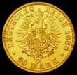 London Coins : A162 : Lot 1661 : German States - Prussia 20 Marks Gold 1888A VF scratched in the obverse field at 3 o'clock by K...