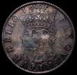 London Coins : A162 : Lot 1705 : Crown 1658 8 over 7 Cromwell ESC 10, Bull 240 Fine, toned with the die flaw at it's late stage