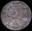London Coins : A162 : Lot 1716 : Crown 1692 2 over inverted 2 QVINTO edge, ESC 85 VF with many fine scratches on the surfaces and on ...
