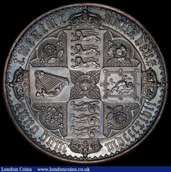 Crown 1847 Gothic UNDECIMO ESC 288, Bull 2571 VF or better, toned, tooled in the fields and on the edge : English Coins : Auction 162 : Lot 1734
