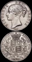 London Coins : A162 : Lot 1746 : Crowns (2) 1820 LX ESC 219, Bull 2016 VF/GVF, Ex-Glendinings February 1977, 1844 Cinquefoil stops on...