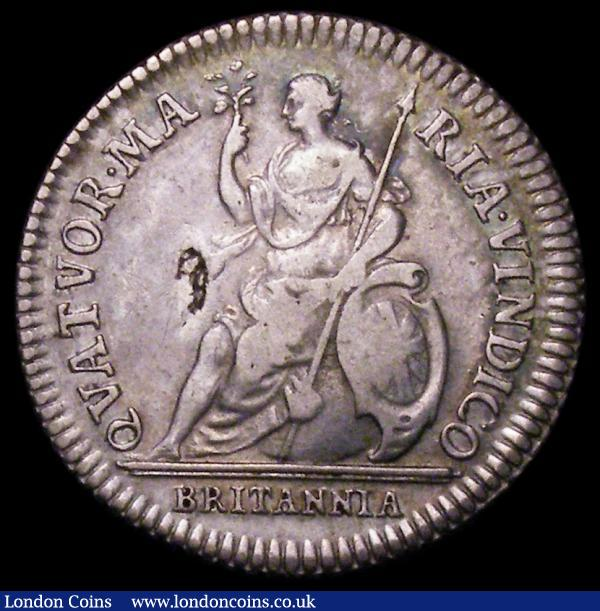 Farthing 1665 Pattern in Silver, the King with short hair Peck 407 dies 1a+A, Good Fine with a flan flaw on the reverse : English Coins : Auction 162 : Lot 1748