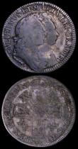 London Coins : A162 : Lot 1897 : Shillings (2) 1692 ESC 1075, Bull 863 NVF/VF toned with initials scratched on the portraits, this vi...