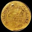 London Coins : A162 : Lot 2095 : Gold Halfcrown James I Second Coinage Third Bust S.2625, North 2094 mintmark Trefoil/Cinquefoil in a...