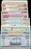 London Coins : A162 : Lot 234 : Cyprus (11), 20 Pounds dated 1993 series G932771, (Pick56b), 20 Pounds dated 2001 series V458942, (P...