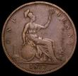 London Coins : A162 : Lot 2440 : Penny 1877 Narrow date, Freeman 90 dies 8+H (Rarity 18) one of the rarest and most sought after curr...