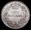 London Coins : A162 : Lot 2490 : Shilling 1862 ESC 1310, Bull 3021 UNC and lustrous, in an LCGS holder and graded LCGS 78, one of the...