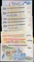 London Coins : A162 : Lot 260 : Guernsey (11), a collection of high grade LOW NUMBER notes, 50 Pounds issued 1994, signed Trestain, ...