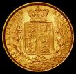 London Coins : A162 : Lot 2603 : Sovereign 1873S Shield Reverse, Marsh 71 EF/GEF