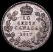 London Coins : A162 : Lot 2904 : Canada 10 Cents 1917 KM#23 Toned UNC with minor cabinet friction
