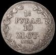 London Coins : A162 : Lot 2945 : Poland 10 Zlotych - 1 1/2 Roubles 1836 C#134 Fine, the edges with some fine lines suggesting possibl...