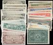 London Coins : A163 : Lot 1426 : Cuba (41), including Foreign Exchange Certificates, 10 Pesos (7) dated 1960 a consecutively numbered...
