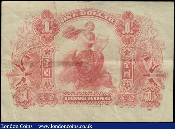 Hong Kong & Shanghai Banking Corporation 1 Dollar dated 1st July 1913 serial no. 2254215, helmeted woman at left, (Pick155b), 2 tiny pinholes otherwise good Fine : World Banknotes : Auction 163 : Lot 1476