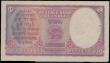 London Coins : A163 : Lot 1478 : India 2 Rupees issued 1943 series D/61 528762, portrait King George VI at right, signed Deshmukh, (P...