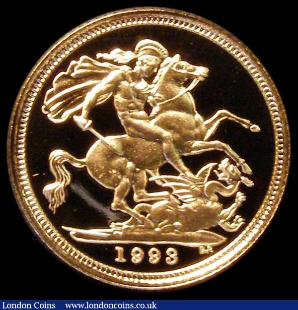 Half Sovereign 1993 Proof FDC cased as issued with certificate : English Cased : Auction 163 : Lot 1732