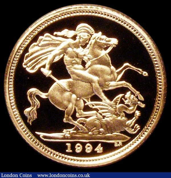 Half Sovereign 1994 Proof FDC in the box of issue with certificate : English Cased : Auction 163 : Lot 1733