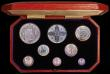 London Coins : A163 : Lot 1760 : Proof Set 1911 Silver Set (8 coins Halfcrown - Maundy Penny) nFDC with an attractive and colourful m...